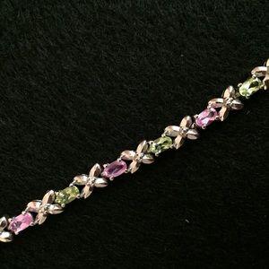 Jewelry - Sterling silver bracelet with gemstones
